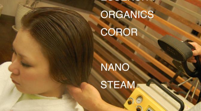 エッセンシティオーガニックカラー X ナノスチーム