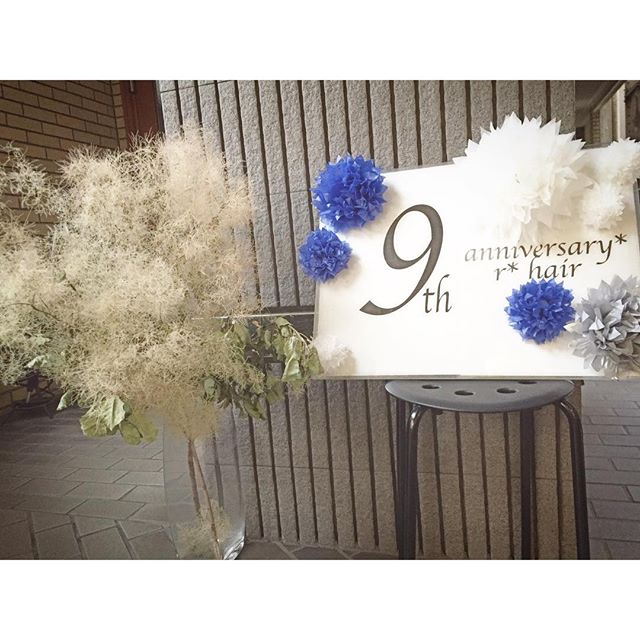 ついに始まりました r*hair 9th anniversary event