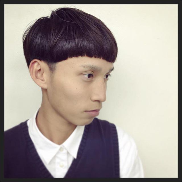 staff new hair*ショートマッシュ前髪のラインとネープの曲線がポイントです**hair:kensakumodel:kentaro**#rhair#rhairatelier#福岡美容室#ヘアスタイル#ヘアスタイルチェンジ #ショート#マッシュ#ショートマッシュ#モッズ#mods