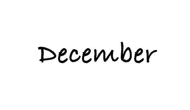 12月の営業、定休日のお知らせ