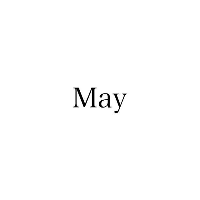 5月のスタッフのお休みをお知らせします